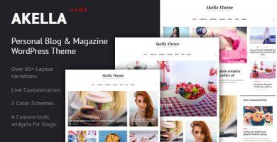 قالب Akella - قالب وردپرس وبلاگ شخصی و مجله