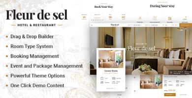قالب Fleurdesel - قالب وردپرس رزور هتل