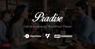 قالب Pradise - قالب وردپرس کافه و رستوران