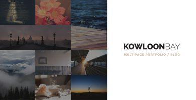 قالب KowloonBay - قالب وردپرس نمونه کار چند صفحه ای