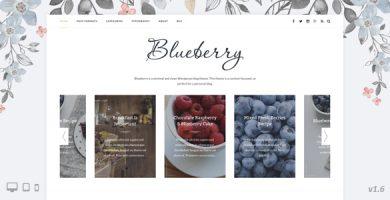 قالب Blueberry - قالب وبلاگ وردپرس