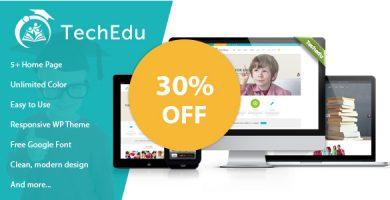 قالب TechEdu - قالب وردپرس آموزشی