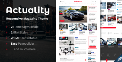 قالب Actuality - قالب وردپرس وبلاگ و مجله