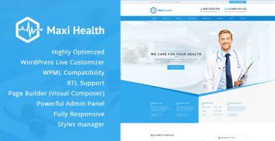 قالب Maxi Health - قالب وردپرس پزشکی