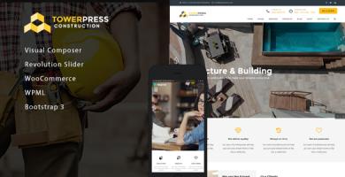 TowerPress - قالب وردپرس ساخت و ساز ساختمان