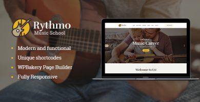 قالب Rythmo - قالب وردپرس آموزشگاه موسیقی