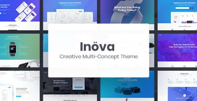 قالب Inova - قالب وردپرس چند مفهومی خلاقانه