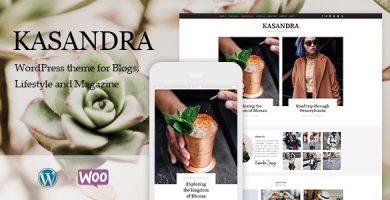 قالب Kasandra - قالب فروشگاهی و بلاگی وردپرس