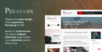 قالب Perasaan - قالب وردپرس مجله