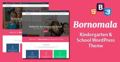 قالب Bornomala - قالب وردپرس مهدکودک و مدرسه