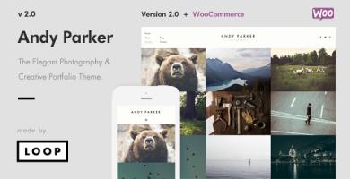 Andy Parker - قالب وردپرس خلاقانه عکاسی و نمونه کار