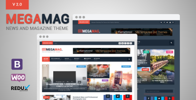 قالب MegaMag - قالب وردپرس خبری و مجله