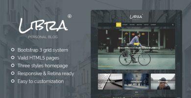 قالب Libra - قالب وردپرس وبلاگ شخصی