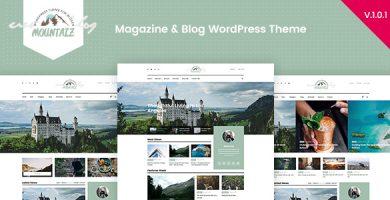 قالب Mountaiz - قالب وردپرس بلاگ و مجله