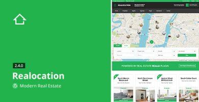 Realocation - قالب مدرن وردپرس املاک