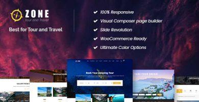 قالب Zone - قالب سایت مسافرت و گردشگری
