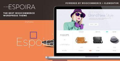 قالب Espoira - قالب فروشگاهی وردپرس