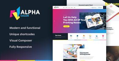 قالب AlphaColor - قالب وردپرس خدمات تایپ و چاپ