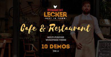 قالب Lecker Restaurant - قالب وردپرس رستوران و کافی شاپ