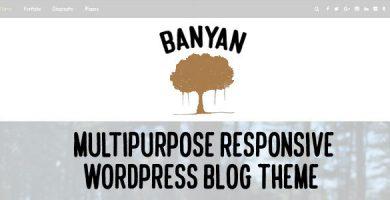 قالب Banyan - قالب چند منظوره وبلاگ برای وردپرس