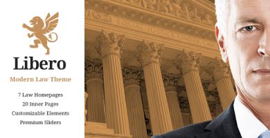 لیبرو | Libero - قالب شرکتی وکالت وردپرس