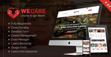 قالب We Care - قالب وردپرس خیریه