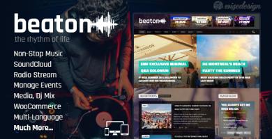 قالب Beaton - قالب وردپرس موسیقی و رادیو