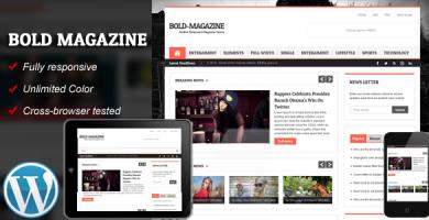 قالب Bold Magazine - قالب وردپرس ریسپانسیو