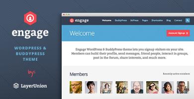قالب Engage - قالب وردپرس، بی بی پرس، بادی پرس