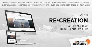 قالب ReCreation - قالب وبلاگی برای وردپرس