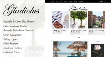 قالب Gladiolus - قالب وبلاگ وردپرس