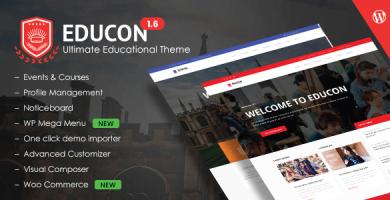 قالب Educon - قالب وردپرس آموزشی