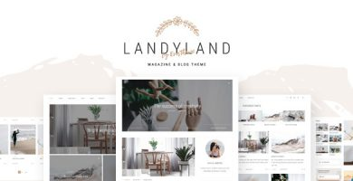 قالب Landyland - قالب وردپرس مجله ای ساده