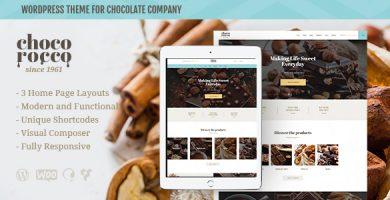 قالب ChocoRocco - قالب وردپرس شرکت شکلات