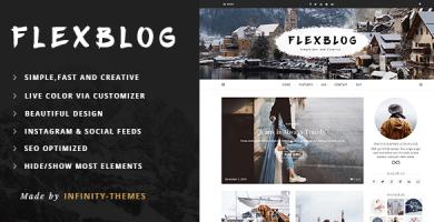 قالب Flexblog - قالب وردپرس وبلاگی