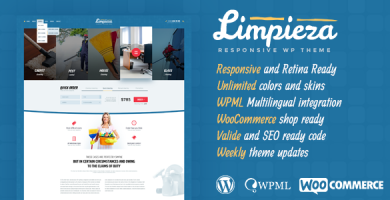 قالب Limpieza - قالب وردپرس شرکتی ساده
