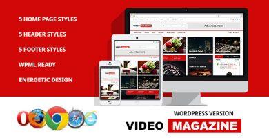 قالب Video Magazine - قالب مجله وردپرس