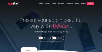 قالب AppStar - قالب وردپرس صفحه فرود برای اپلیکیشن
