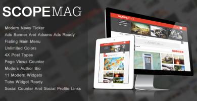قالب ScoupMag - قالب وردپرس مجله ی هوشمند و مدرن