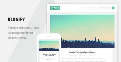 قالب Blogify - قالب وردپرس بلاگی