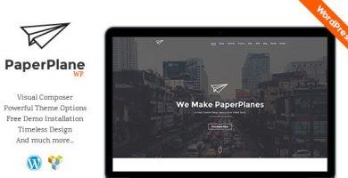 قالب PaperPlane - قالب شرکتی خلاقلانه