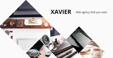 Xavier - قالب وردپرس نمونه کار و آژانس