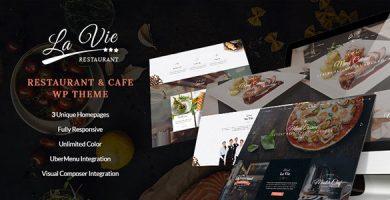 قالب Lavie Restaurant - قالب وردپرس کافی شاپ و رستوران
