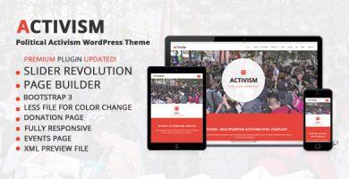 Activism - قالب وردپرس فعال سیاسی