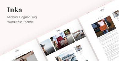 قالب Inka - قالب مینیمال وبلاگ برای وردپرس