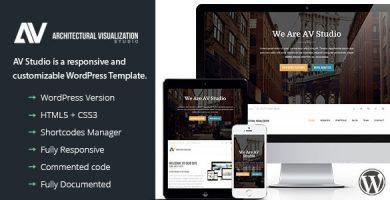 AV Studio - قالب وردپرس تک صفحه ای