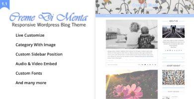 قالب Creme Di Menta - قالب وبلاگی وردپرس