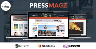 قالب PresssMagz - قالب وردپرس مجله و اخبار تحریریه