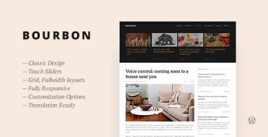 قالب Bourbon - قالب وبلاگ وردپرس ریسپانسیو
