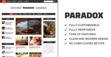 قالب Paradox - قالب وردپرس مجله ای حرفه ای